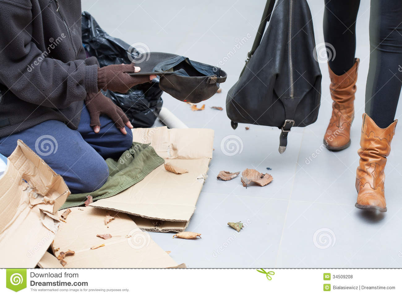 homeless-man-begging-money-street-person-alms-people-34509208